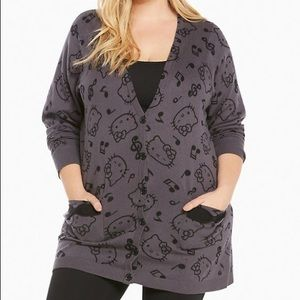 torrid Sanrio Hello Kitty music print cardigan